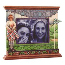 Jim Shore Woman Golfer Picture Frame
