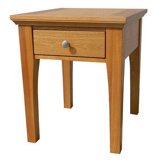 Fraser One-Drawer Golden Oak End Table