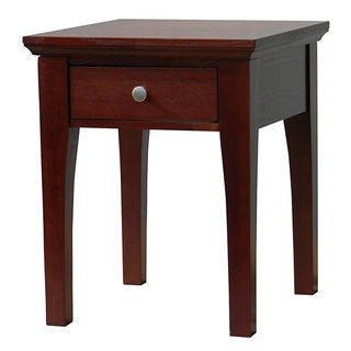 Fraser One-Drawer Mahogany End Table