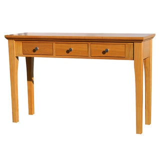 Fraser Three-Drawer Golden Oak Console/SofaTable