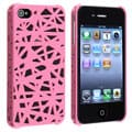 INSTEN Pink Bird Nest Rear Snap-on Phone Case Cover for Apple iPhone 4/ 4S