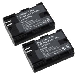 Compatible Decoded Li-Ion Battery for Canon LP-E6 (Pack of 2)