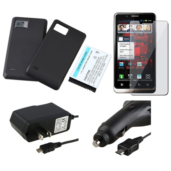 Battery/ Cover/ LCD Protector/ Charger for Motorola Droid Bionic XT875