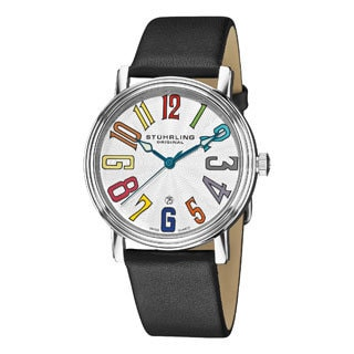 Stuhrling Original Men's Roulette Rainbow Swiss Quartz Date Watch