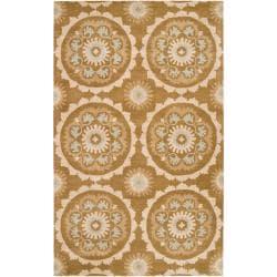 Hand-tufted Desert Sand New Zealand Wool Rug (5' x 8')