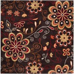 Hand-tufted Bishopbriggs Wool Rug (9'9 Square)