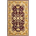 Handmade Heritage Treasures Red/ Gold Wool Area Rug (3' x 5')