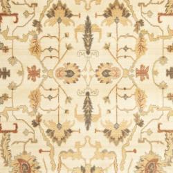 Oushak Cream/ Brown Powerloomed Rug (9'6 x 13')