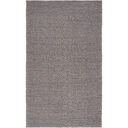 Hand-woven Casual Solid Grey Aberdeen Wool Rug (8' x 11')