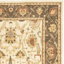 Safavieh Oushak Cream/Brown Power-Loomed Area Rug (8' x 11')