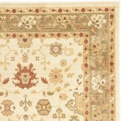 Safavieh Oushak Traditional Cream/Green Powerloomed Rug (8' x 11')
