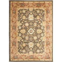 "Oushak Brown/Rust Powerloomed Rectangular Rug (5'3"" x 7'6"")"