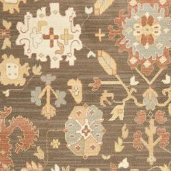 Traditional Oushak Brown/Cream Power-Loomed Rug (8' x 11')