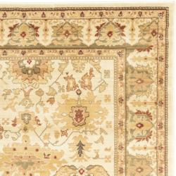 Oushak Cream/ Green Powerloomed Rug (8' x 11')