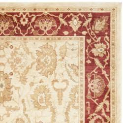Safavieh Oushak Cream/ Red Powerloomed Rug (8' x 11')