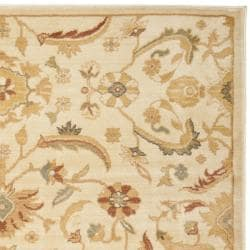Oushak Cream/ Gold Powerloomed Rug (4' x 5'7)