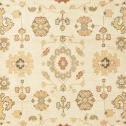 Oushak Traditional Cream/Cream Powerloomed Rug (4' x 5'7)