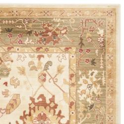 Safavieh Oushak Cream/ Green Powerloomed Rug (9'6 x 13')