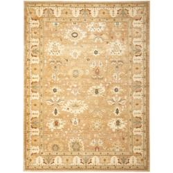 Oushak Light Brown/ Light Brown Powerloomed Rug (5'3 x 7'6)