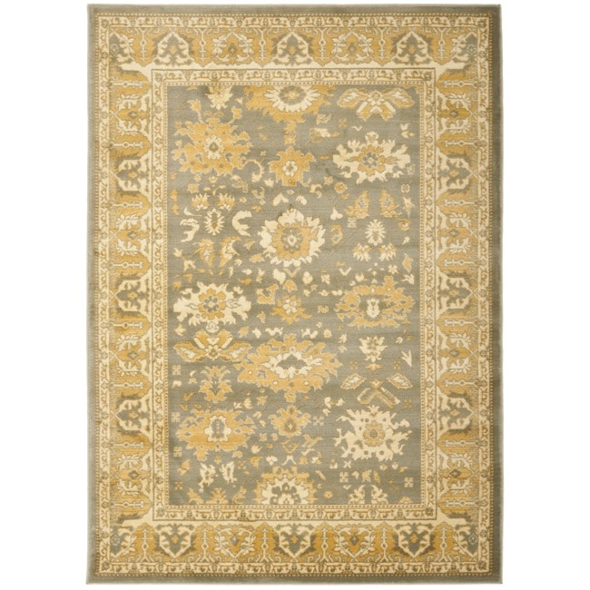 Safavieh Oushak Grey/ Gold Powerloomed Rug (4' x 5'7)
