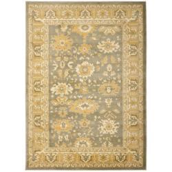Safavieh Oushak Grey/ Gold Powerloomed Rug (4' x 5'7)