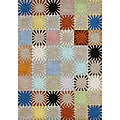 Handmade 'Alliyah' Multicolored New Zealand Blended Wool Area Rug (5' x 8')