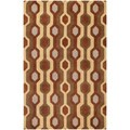 Hand-tufted Brown Contemporary Kildare Wool Geometric Rug (12' x 15')