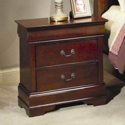 Giusta Dark Cherry 2-Drawer Nightstand