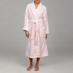 Woven Workz Unisex 'Boston' Pink Microfiber Bath Robe