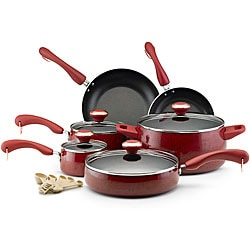 Paula Deen Collection Red Speckle Porcelain Nonstick 15-piece Set