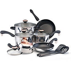 Paula Deen 12-piece Signature Stainless Steel Cookware Set