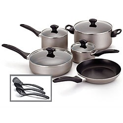 Farberware Champagne Nonstick 12-piece Cookware Set