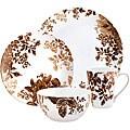 Paula Deen Tatnall Street Brown 16-piece Dinnerware Set