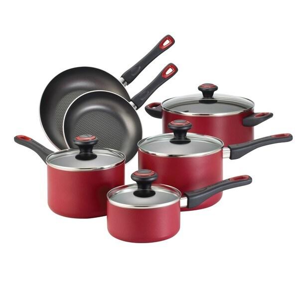 Farberware Red 10-piece Cookware Set