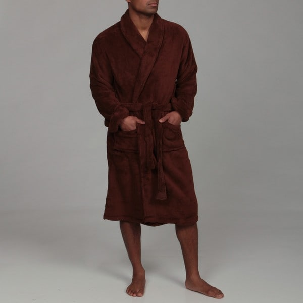 Woven Workz Unisex 'Boston' Chocolate Microfiber Bath Robe