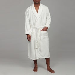 Woven Workz Unisex 'Boston' Cream Microfiber Bath Robe