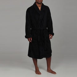 Woven Workz Unisex Boston Microfiber Black Robe