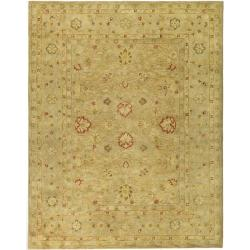 Handmade Majesty Light Brown/ Beige Wool Rug (11' x 17')