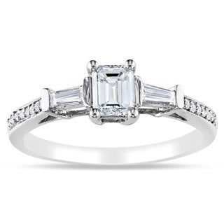 Miadora 14k White Gold 3/4ct TDW Certified Diamond Ring (G-H, I1-I2)