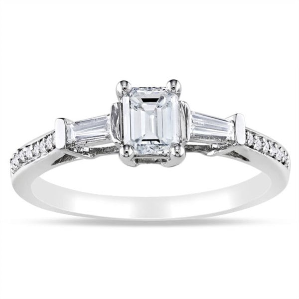 Miadora 14k White Gold 3/4ct TDW Certified Diamond Ring (G-H, I1-I2)