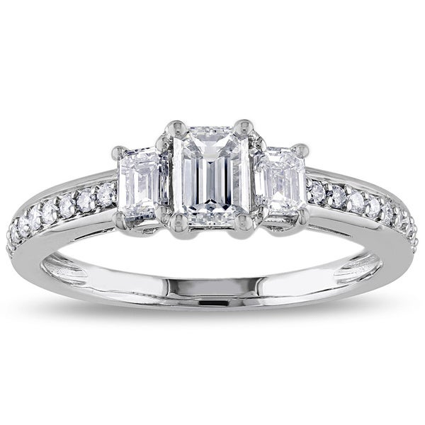 Miadora 14k White Gold 1ct TDW IGL-certified Diamond Ring (G-H, I1 I2)