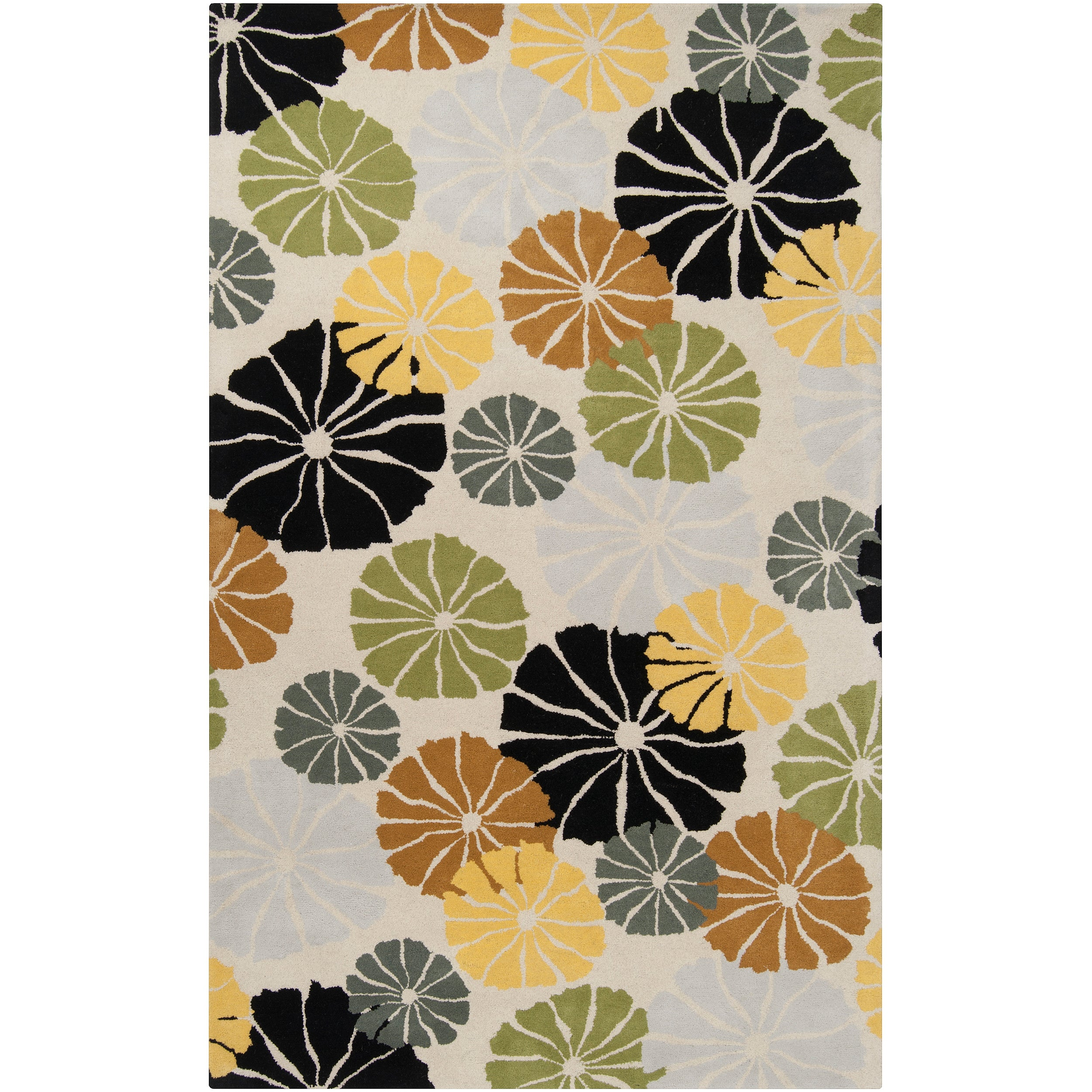 Tepper Jackson Hand-tufted Contemporary Multi Colored Floral Dreamscape Wool Rug (8' x 11')