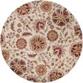 Hand tufted Kuray Floral Wool Rug (9'9 Round)
