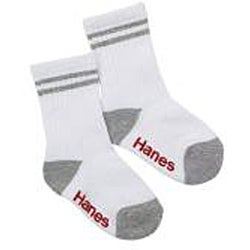 Hanes Toddler Boy's Non-skid Crew Socks (Pack of 6)