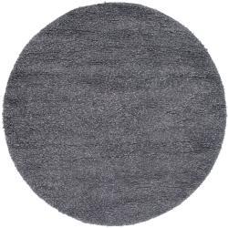 Hand-woven Metropolitan New Zealand Wool Plush Shag Rug (8' Round)