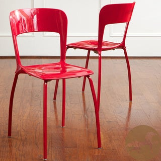 Christopher Knight Home Red Modern Chairs (Set of 2)