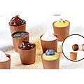 Lang's Chocolates 128 Milk Chocolate Dessert Cups