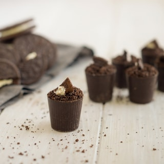Lang's Chocolates 128 Dark Chocolate Dessert Cups