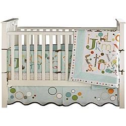 Bananafish MiGi Alphabet 3-piece Crib Bedding Set