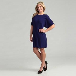 Scarlett Women's Purple Bead-embellished Dress